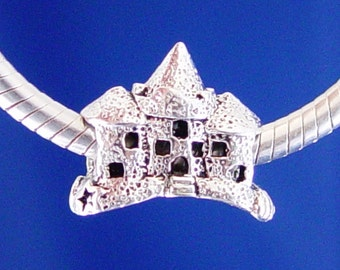 Sand Castle Beach Sand Summer Travel European Charm Bead Silver Plated Jewelry designed to fit your  Bracelet or style