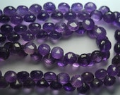4 Inch Strand 25 Beads,Finest Quality, Purple Amethyst Micro Faceted Onion Shape Briolettes, 7-6mm size