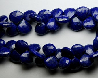 7 Inch Full Strand, Lapis Lazuli Faceted Heart Briolettes,Size 10-12mm approx