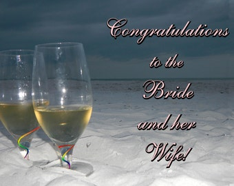 Congratulations to the Bride and her Wife Greeting Card
