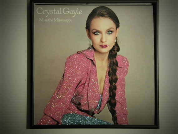 Glittered Record Album - Crystal Gayle - Miss The Mississippi