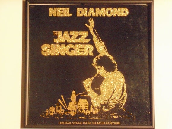 Glittered Record Album - Neil Diamond - The Jazz Singer Soundtrack