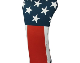 USA American Flag Three sizes Golf Club Head Covers Made in the USA
