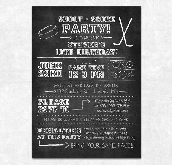 Items similar to Hockey Party Invitation - Printable ...