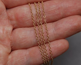 3ft 14K Gold Filled 1.5mm Cable Chain