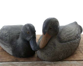 Pair of Vintage Mallard Duck Decoys