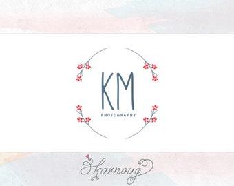 Custom, Premade, Floral, Photography Logo Design, Initials