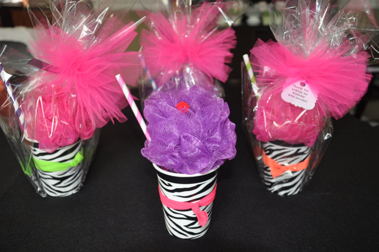 Girls Spa Party Favor Bath Puff Smoothie Filled With Nail