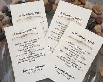 Super FLASH SALE Wishing Bracelet - Wedding Favor - Set of 50 - Cream