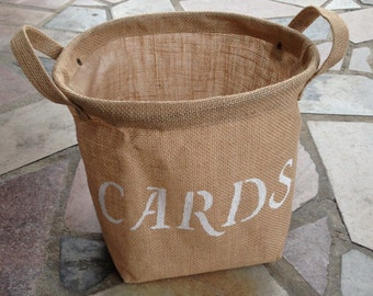 FINAL SALE CARDS Burlap Bag Great for Weddings and Home Decor