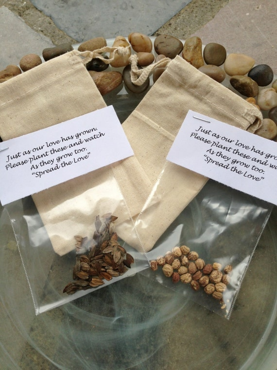 Flower Seed Favors - FILLER ONLY - Wedding - Bridal - Shower