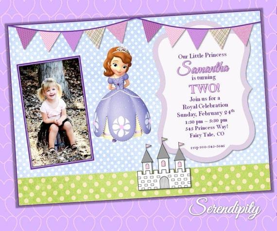 Sofia the first, Princess Sofia Invitation, Printable DIY