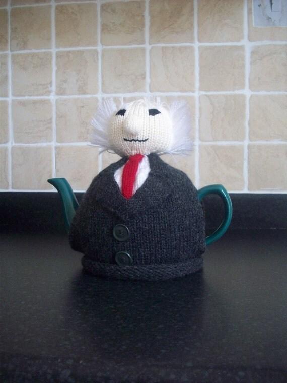 Knitting Pattern For Michael D Higgins Tea Cosy : Knitted Tea Cosy Cosie Cozy Michael Higgins President of