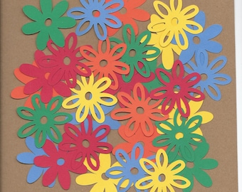 30- 2 inch Primary flowers Cricut Die Cut