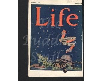 """Vintage Magazine Cover, Life  November 8, 1923  """"Armistice Number"""""""