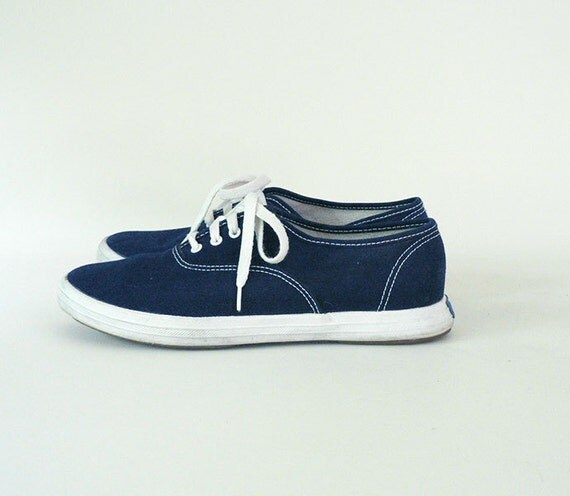 s vintage size 7 canvas sneakers by longsince on etsy
