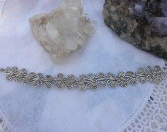 Vintage Mexican Sterling Linked Bracelet