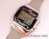 Timex Indiglo Men's Watch 1980's Alarm Chronograph Quartz LCD Movement