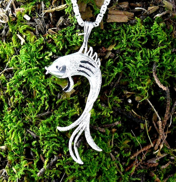 Koi fish pendant exotic sterling silver for Exotic koi fish