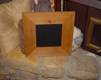 rare wide 8x8 size solid cedar wood picture photo craft scrapbook frame oak finish country rustic display