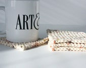 Tweed Crochet Coasters Set of 4 for the Home - GetTangled