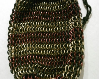 Custom chainmail large bag- pick your colors