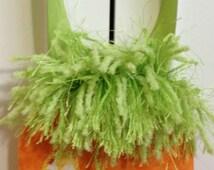 Carrot House Tote Bag for Felt Doll Bunny Family