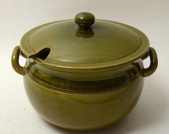 Hoganas Keramik Covered Dish Eldfast Old- Hogamas 1960 Sweden Mid Century