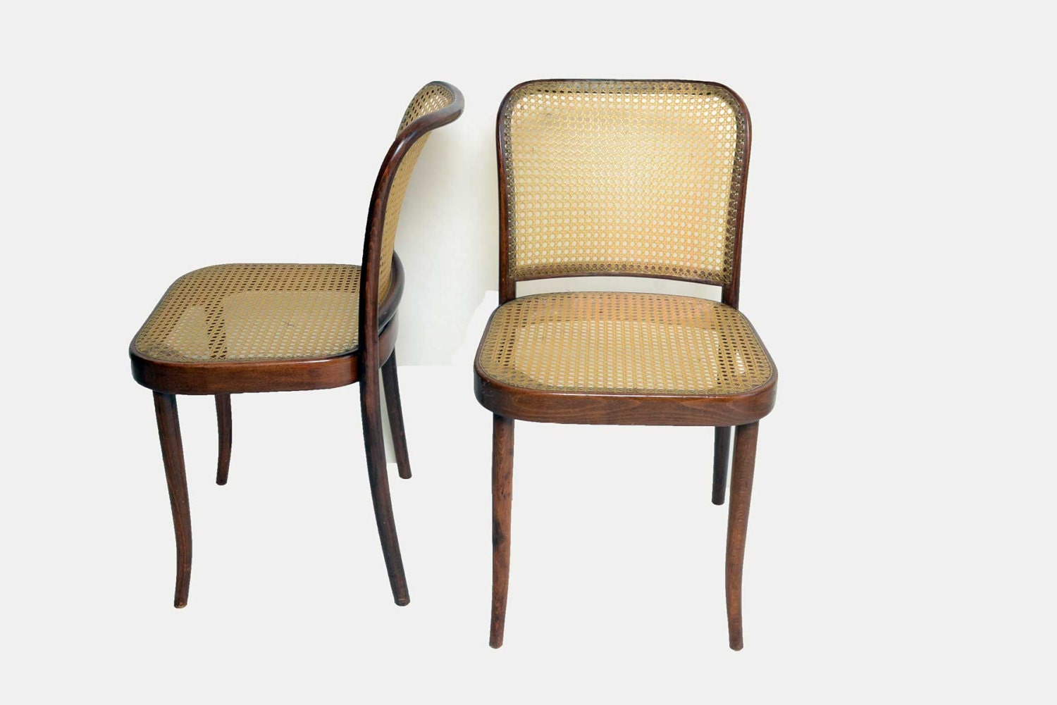 6 Thonet Bentwood Cane Dining Chairs 1950 1960 Mid Century