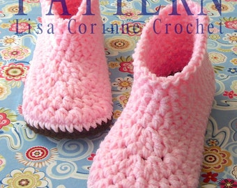 Crochet Slipper PATTERN, Slipper Boots, Crochet Slippers, Boot Slippers, Women Slippers, Crochet Boots PATTERN