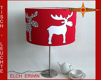 Kids Table lamp ELCH ERWIN kids room lamp red