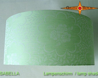 Green lamp shade ISABELLA Ø45 cm damask mint green lamp