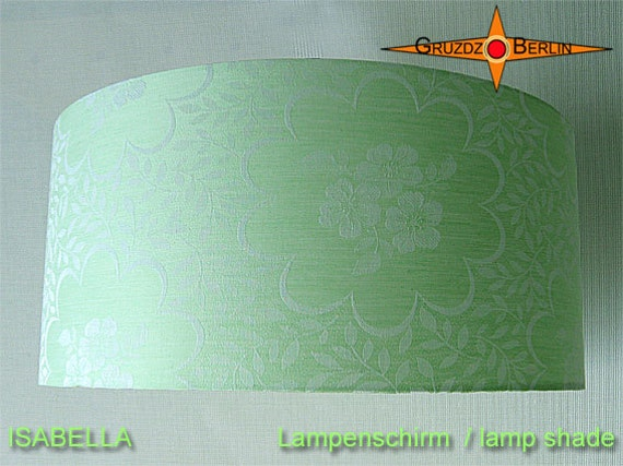 green lamp shade isabella 45 cm damask mint green by. Black Bedroom Furniture Sets. Home Design Ideas