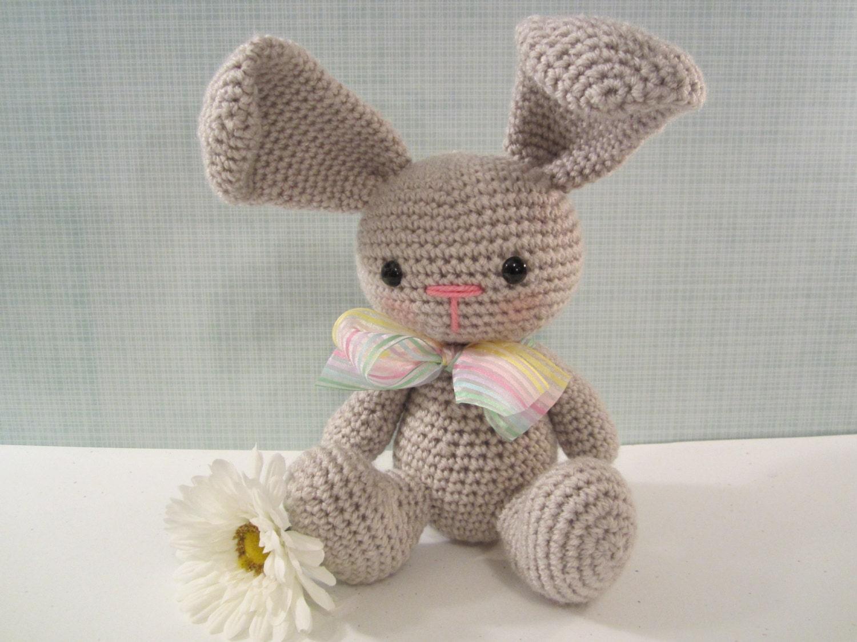 How To Crochet An Amigurumi Rabbit : Bunny Plush Crochet Bunny Rabbit Amigurumi Stuffed by ...