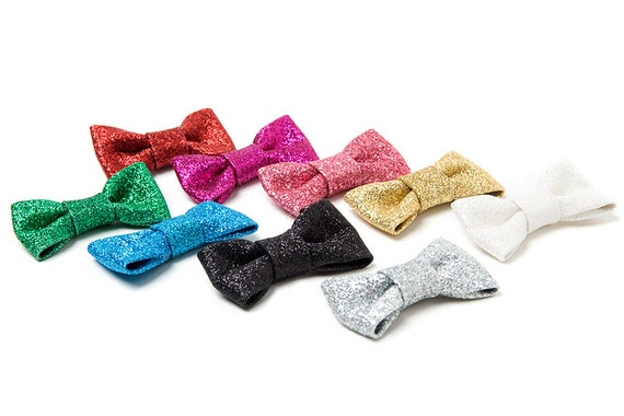 items similar to mini bow tie glitter vinyl 10 bow ties