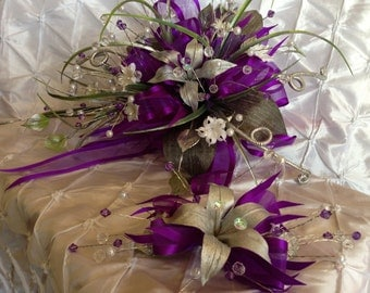 Purple wedding bouquet / Ramo de quince./