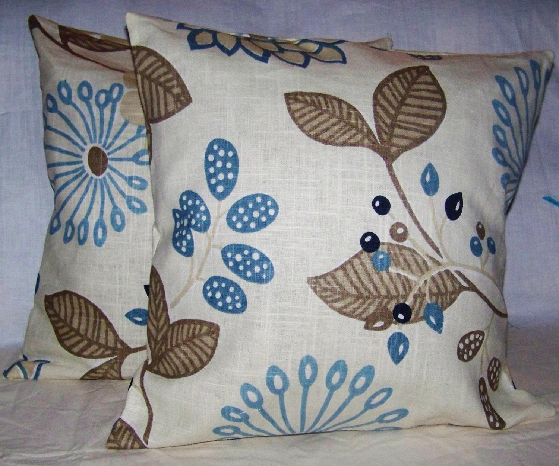Beautiful Decorative Throw Pillows : 2 Beautiful Decorative Throw pillow covers 18 x 18 tempo