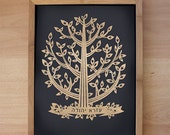 Laser cut Tree - Custom Laser cut with name in Hebrew