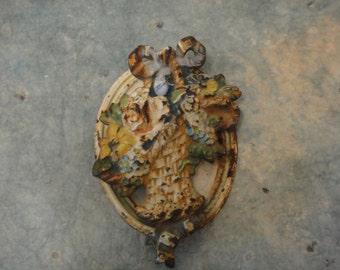 Antique Hubley French Flower Basket Door Knock