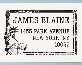 Custom Address Stamp - Rubber Stamp Address Stamp - Personalized Stamp - AS25