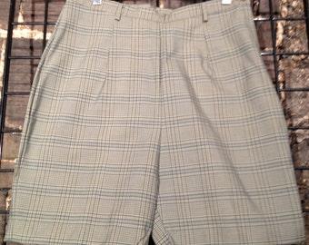 Women's Vintage 60's / 70's Plaid Shorts Size 29