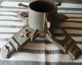 Antique Cast Iron Christmas Tree Stand 1920's Solid