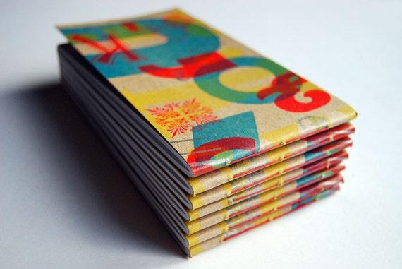 4 Colour Letterpress Notebook
