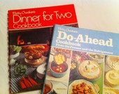 Cook book Bundle - Two Betty Crocker Cook Books - Dinner For Two and Do Ahead Cook book