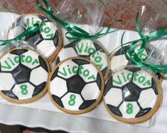 Soccer Ball Sugar Cookies