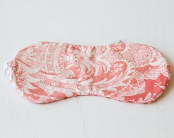 Pink Damask Print Sleep Shade Eye Mask with Pink Polka Dot EyeMask, SleepMask