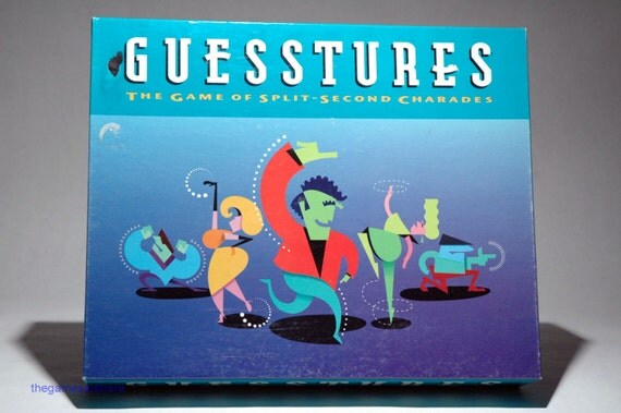 Guesstures Game of Split Second Charades from Milton Bradley
