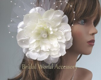 SALE Ivory Bridal Flower Hair Clip Wedding Hair Flower Clip Wedding Accessory Pearl Beads