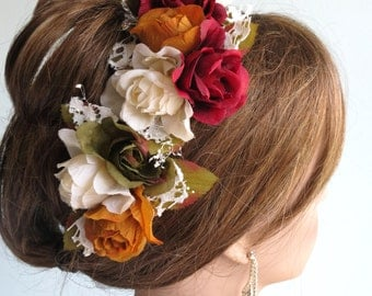 Wedding Accessory Set Of 3 Hair Clips Bridal accessory Hair Flower Clip Lace