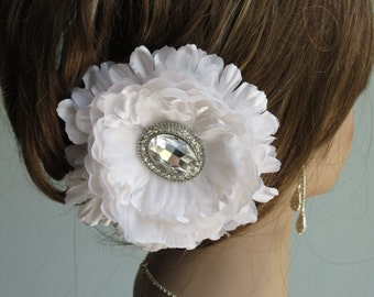 SALE Antique White Bridal Flower Hair  Clip Wedding Hair Clip Wedding Accessory